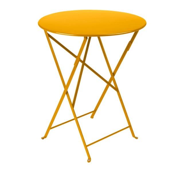 Żółty składany stół metalowy Fermob Bistro
