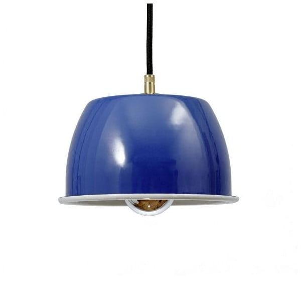 Lampa sufitowa Emailleleuchte 05 Blue/Black