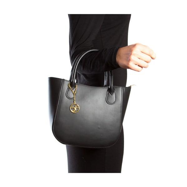 Skórzana torebka Coci, czarna
