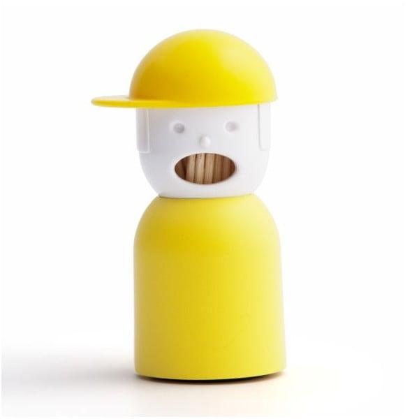 Pojemnik na wykałaczki QUALY Picky Boy, żółty