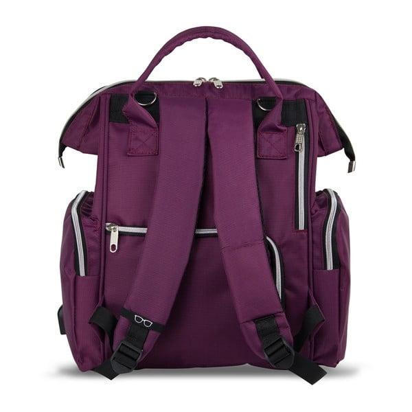 Fioletowy plecak dla mam z USB My Valice HAPPY MOM Baby Care Backpack