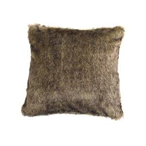 Brązowa poduszka włochata ZicZac, 45x45 cm