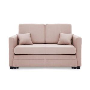 Jasnoróżowa 2-osobowa sofa rozkładana Vivonita Brent