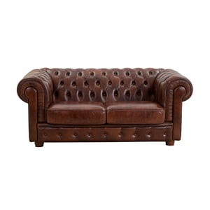 Brązowa skórzana sofa dwuosobowa Max Winzer Bridgeport