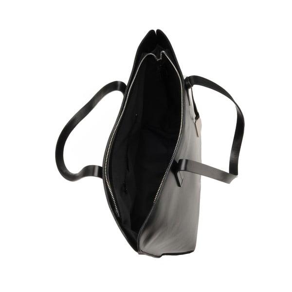 Skórzana torebka Vega, czarna