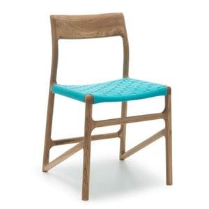 Krzesło Fawn Natural Gazzda, niebieskie