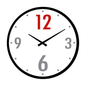 Szklany zegar Dwanaście, 34 cm