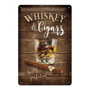 Tabliczka blaszana Whiskey, 20x30 cm