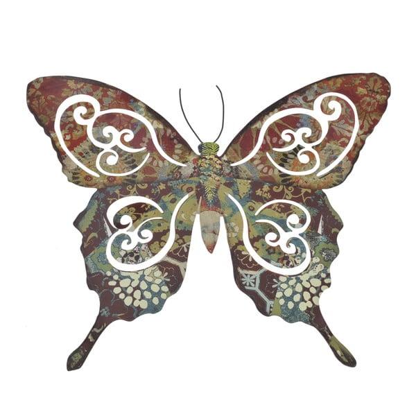 Metalowy motyl na ścianę, 34 cm