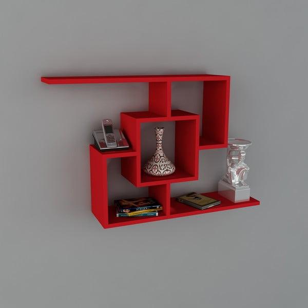Półka Samara Book Red, 22x100x64 cm