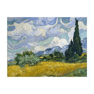 Reprodukcja obrazu Vincenta van Gogha - Wheat Field with Cypresses, 50x40 cm
