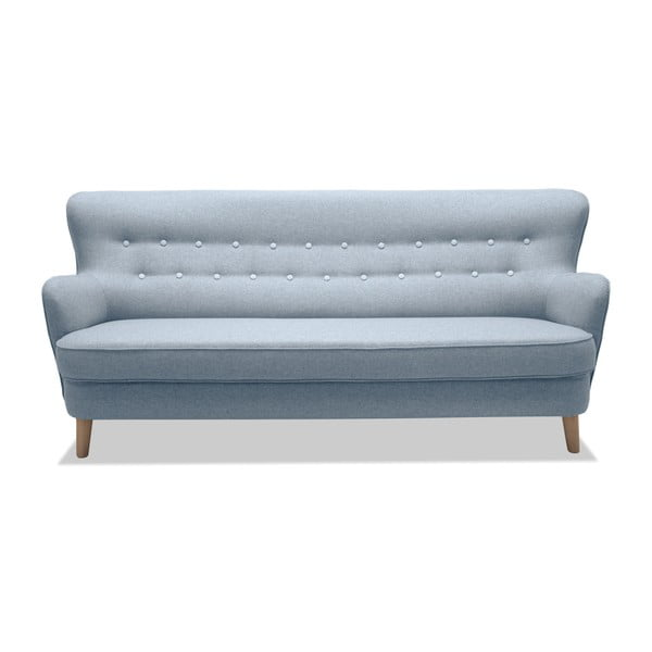 Jasnoszara sofa 3-osobowa Vivonita Eden