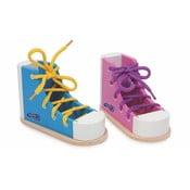 Zestaw 2 butów do nauki wiązania sznurówek Legler Coloured