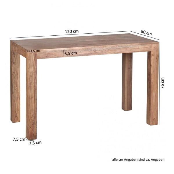Stół z litego drewna akacji Skyport Alison, 120x60 cm