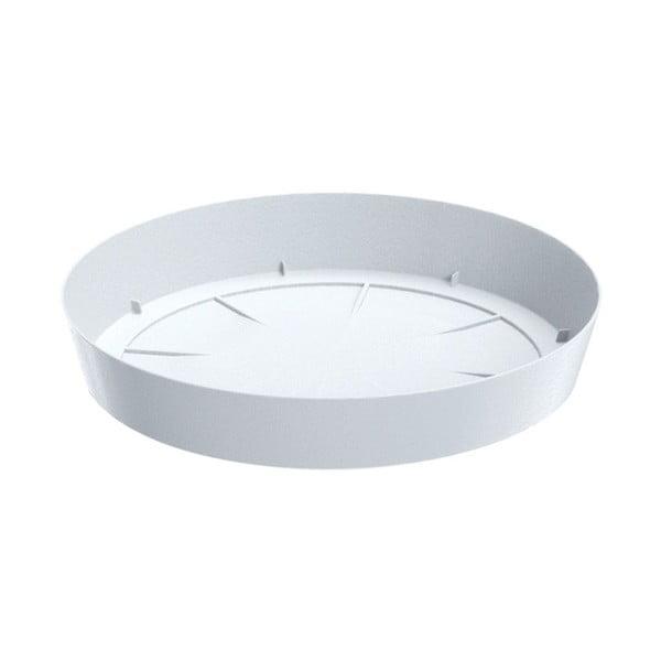 Doniczka z podstawką Colorino 34,5 cm, biały