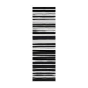 Czarny dywan bawełniany Linie Design Glorious, 60x90 cm