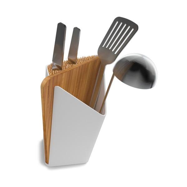 Stojak na noże i akcesoria kuchenne Utensil/Knife Holder + Board, biały