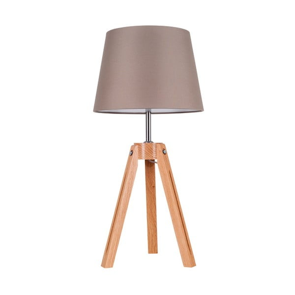 Lampa stołowa Tripod Britop, szara