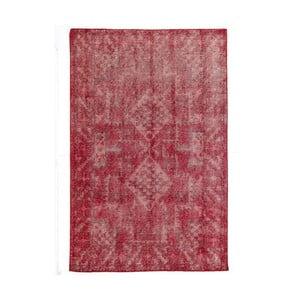 Czerwony dywan wełniany ręcznie wiązany Linie Design Sentimental,140x200cm