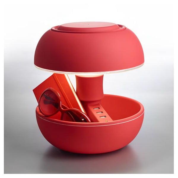 Lampa stołowa i ładowarka w jednym Joyo Soft, czerwona