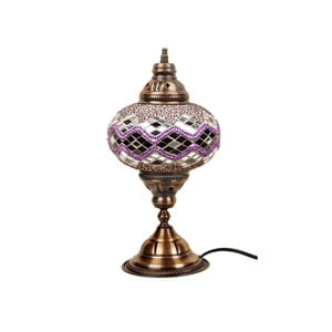 Szklana lampa Homemania Hades, ⌀17cm
