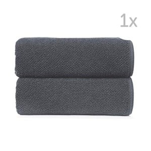 Ciemnoszary ręcznik kąpielowy Graccioza Bee, 70x140cm
