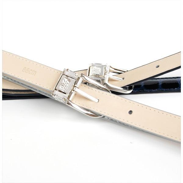 Pasek skórzany damski 13T90 White, 80 cm