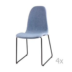 Zestaw 4 jasnoniebieskich krzeseł sømcasa Helena