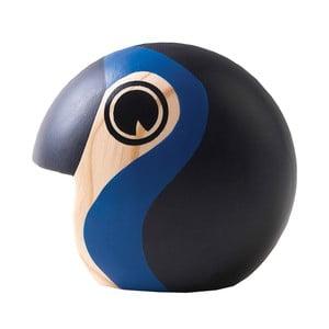 Mała dekoracja w kształcie ptaka z ciemnoniebieskimi elementami Architectmade Discus