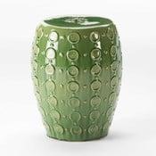 Zielony stołek ceramiczny Thai Natura