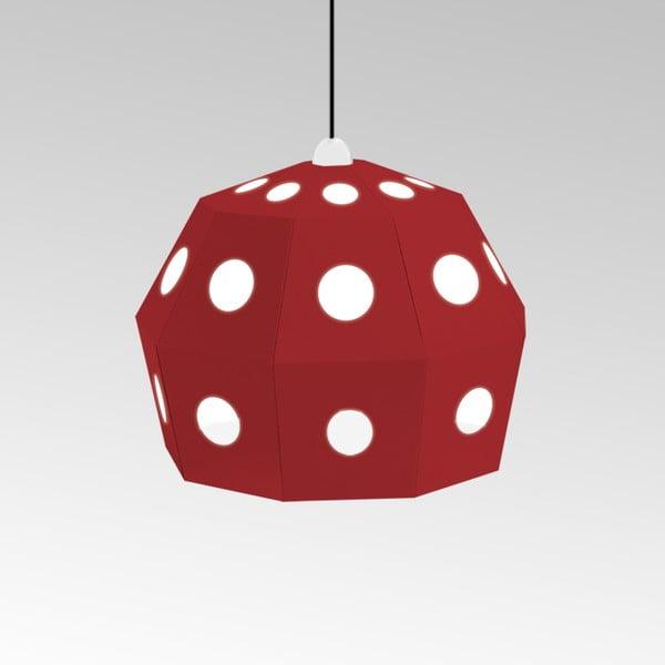 Kartonowa lampa Uno Fantasia B Red, z czarnym kablem