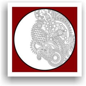 Obraz do kolorowania 98, 50x50 cm