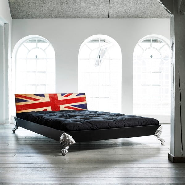 Łóżko Karup Eagle Black/Union Jack,  140x200 cm
