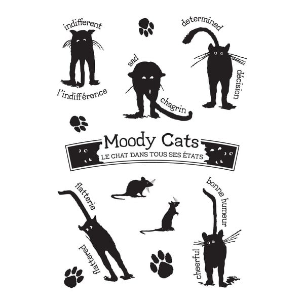 Naklejka Etats des chats