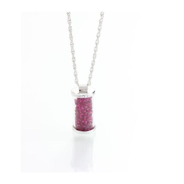 Różowy naszyjnik z kryształami Swarovskiego Yasmine Ampule