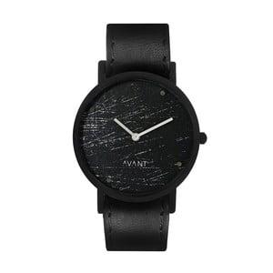 Czarny zegarek unisex z czarnym paskiem South Lane Stockholm Avant Raw