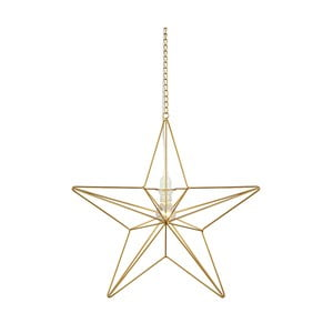 Świecąca dekoracja wisząca Markslöjd Tjusa Star Gold