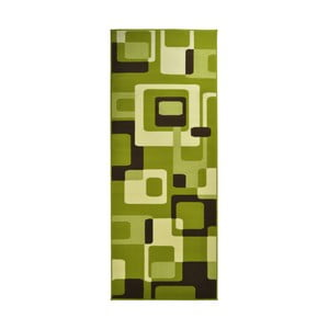 Dywan Hamla Retro, 80x150 cm, zielony