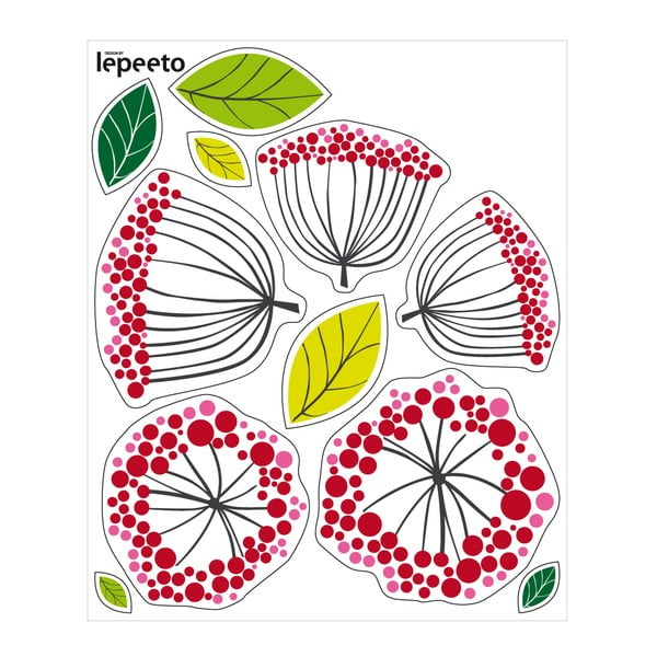 Naklejka wielokrotnego użytku Kurka z kwiatkami