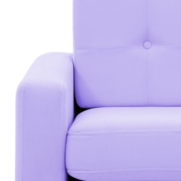 Pastelowo fioletowy fotel VIVONITA Ina