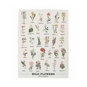 Ścierka bawełniana Gift Republic Wild Flowers, 50 x 70 cm