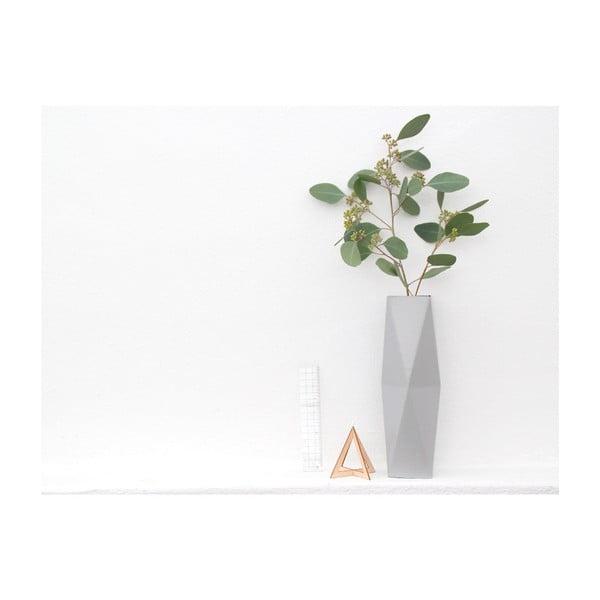 Składany wazon origami SNUG.Grey
