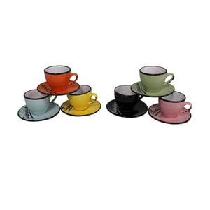 Zestaw 6 filiżanek ze spodkiem Espresso