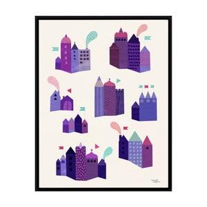Plakat Houses, 50x70 cm