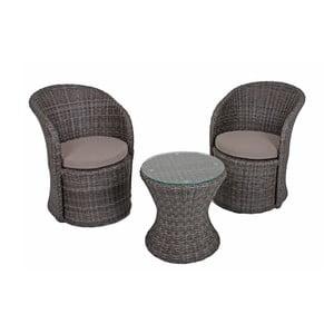 Zestaw 2 foteli ogrodowych i stolika ADDU Vagos