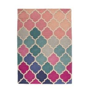 Niebiesko-różowy dywan wełniany Flair Rugs Rosella, 160x230 cm