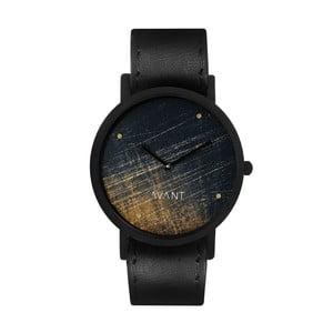 Zegarek unisex z czarnym paskiem South Lane Stockholm Avant Noir