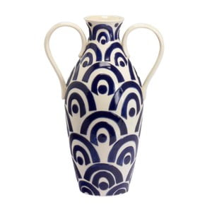 Ceramiczny wazon Blue and White, 40 cm