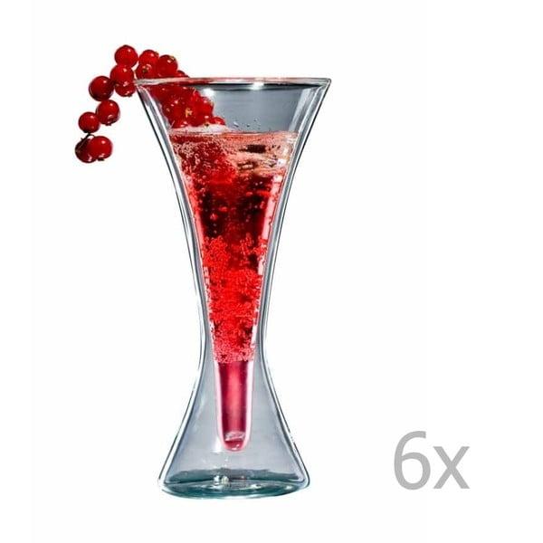 Zestaw   6 szklanek bloomix Kir Royal