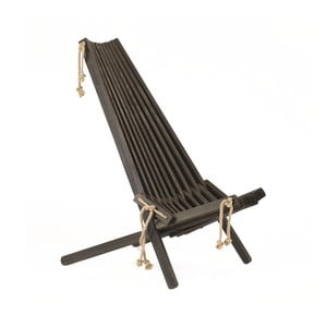 Leżak ekologiczny z czarnego drewna sosnowego EcoFurn EcoChair
